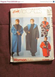 SALE Uncut McCall's Sewing Pattern 4673 All Sizes by EarthToMarrs, $8.40