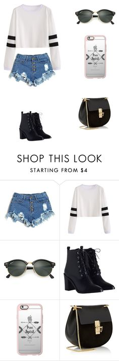 """""""Sin título #242"""" by karenrodriguez-iv on Polyvore featuring moda, Ray-Ban, Zimmermann, Casetify y Chloé"""