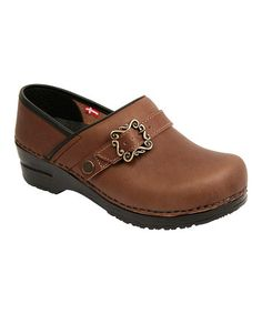 Take a look at this Dark Brown Buckle Original Clog - Women by Sanita on #zulily today!