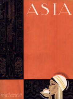 1928, Franck Mackintosh : Asia magazine cover, August 1928