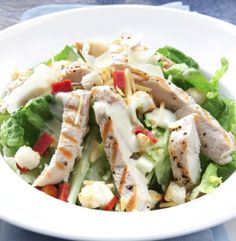 This is a great salad to include in your Lose Baby Weight healthy eating plan as the heavy Caesar dressing is lightened up in this healthy version of the classic – we use fat free yoghurt to keep a creamy … Continue reading → Easy Caesar Salad Dressing, Chicken Caesar Salad, Cilantro Dressing, Chicken Salads, Cooked Chicken, Recipe Chicken, Rotisserie Chicken, Grilled Chicken, Healthy Mummy Recipes