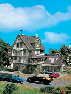 VOLLMER N SCALE LIQUOR STORE MODEL BUILDING KIT 7687 #Vollmer