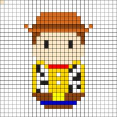 Woody - Toy Story Perler Bead Pattern