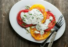 Tomato Blue Cheese Salad - Framed Cooks