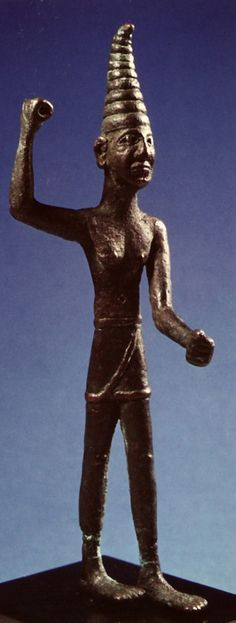 Bronze statue of the weather and war god Baal Syrian or Anatolian 1400 - 1200 BC Source: California Museum of Ancient Art