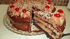 Τούρτα νουτέλα από την Σόφη Τσιώπου! Greek Desserts, Party Desserts, Greek Recipes, Cookbook Recipes, Cooking Recipes, Biscotti Cookies, Cake Pops, Nutella, Tiramisu