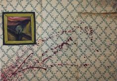 "Saatchi Art Artist VISAN STEFAN; Painting, ""The Scream at the murder scene"" #art"