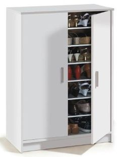 1c94897d4ac7 Large Shoe Cabinet   Alfy White Large 30-40 Pairs Shoe Cupboard Cabinet  Shoe Cupboard