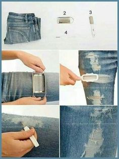 Löcher in Jeans