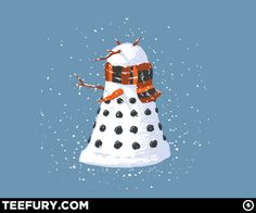 """""""In the Tardis, there's a Dalek snowman, and we can pretend it's Dalek Caan! He'll make lots of Snowman/Dalek Hybrids, until the Doctor comes and takes him on!"""