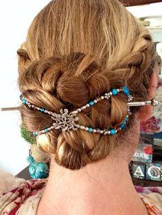 Gorgeous mega Aquaburst Flexi in a beautiful braided bun! http://www.lillarose.biz/beautifullife