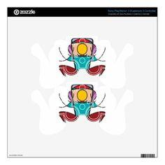 meditation yoga illustration noa PS3 controller decals - yoga health design namaste mind body spirit