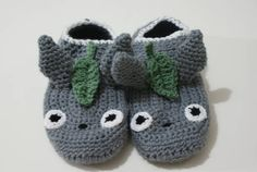 Anime Slippers! Totoro and Sgt. Frog! - CROCHET