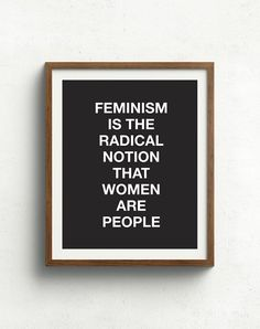 Feminism art print by bonmotprints