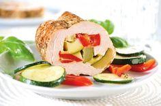 Rolada z piersi indyka z warzywami
