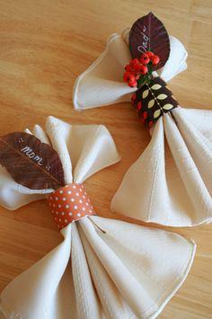DIY Napkin Thanksgiving Rings