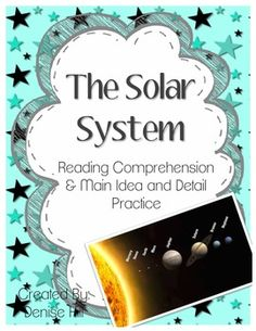 Solar System Non-Fiction Reading Comprehension and Main Id