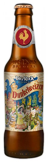 Big Rock Dunkelweizen: Here in the Prairies, we never tire of celebrating that we are surrounded by some of the finest wheat and two-row barley in the world. It's not surprising, then, that we felt irresistibly drawn to producing a beer that would highlight some of the variety and complexity of flavours that can be drawn out of these humble cereal crops.