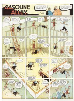 The Comics Cube!: Comics Techniques and Tricks: Frank King Bd Comics, Manga Comics, Vintage Cartoon, Vintage Comics, Comic Art, Comic Books, Comic Tutorial, Comic Layout, Marvel E Dc