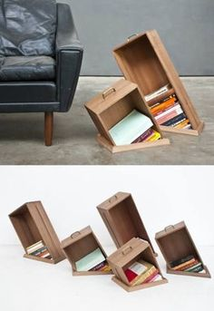 不思議な本棚! 埋まってる?