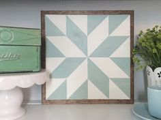 Lucky in Hazy Skies   Have you ever seen a Barn Quilt? They're reallypopular out on the east coast where I grew up. It's basically a hu...