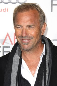 His grey hair makes him look much better... Costner, you are very handsome.