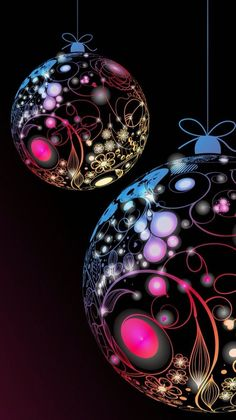 Black and pink and purple christmas bobble Christmas Scenes, Noel Christmas, Merry Christmas And Happy New Year, Christmas Balls, Christmas Greetings, Christmas Ornaments, Mery Chrismas, Holiday Wallpaper, Purple Christmas