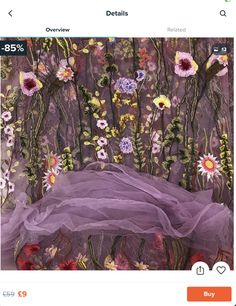 Buy White/Black Embroidery Floral Lace Fabric Black Mesh Flower Wedding Dress Cloth at Wish - Shopping Made Fun Wedding Dresses With Flowers, Black Mesh, Light Purple, Lace Fabric, Black N Yellow, Floral Embroidery, Floral Lace, Tulle, Sutton Park