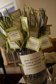 Wedding sparklers send-off directions DIY