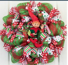 Christmas mesh wreath (pic only)
