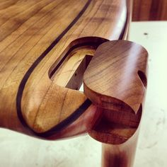 The maloof joint! #wood #woodshop #woodworking #joint #joinery #maloof #leg #chair #seat #cherry #ebony #finewoodworking #finefurniture #str...
