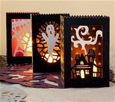 Light the way for your trick or treaters with these spooky luminaries!