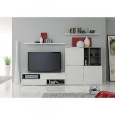 Rangement mural blanc - Achat/Vente rangements muraux blancs - Mobilier TV blanc