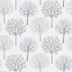 A playful design featuring trees in various colorways. Ideal as wallpaper for a children's room or in a hall or living room. Show collection Decorama EasyUp 16 Wallpaper Fofos, Wall Wallpaper, Retro Tapet, Textures Patterns, Print Patterns, Flower Doodles, Tree Silhouette, Nocturne, Pattern Paper