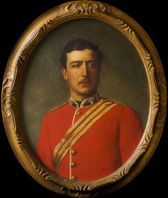love this 19th century portrait of an English officer!