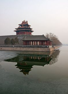 Beijing Forbidden City, China. love it's wall and moat.. create a fortify barrier for peace and quiet.. so no one comes in only present company expected..