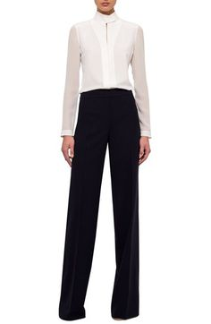 Akris Double Face Wool Blend Pants available at #Nordstrom