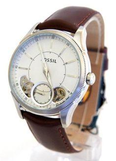 Fossil ME9036 Men's Brown Genuine Leather Silver Stainless Steel Watch NEW Fossil. $124.00