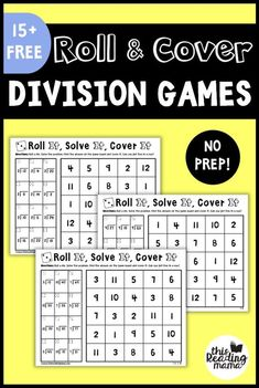 It's time for some NO PREP Division Games! In all my years of making free printables, I don't think I've ever posted a printable for division. So it's time! Plus, my rising 4th grader is ready for these. So I thought I'd make some as a part of our No Prep Math Games series. *This …