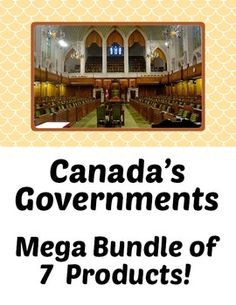 Canada's Government - Mega Bundle of 7 Products! Middle School Teachers, Teacher Pay Teachers, Teaching Social Studies, Teaching Resources, Levels Of Government, Teacher Lesson Plans, How To Get Followers, Canadian History, Study History