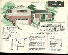 26d1d6a3ff1c55735ec9c7fe89078d09 split level exterior vintage houses 1950s ranch plans google search bungalow pinterest 1950s,Split Level Bungalow House Plans