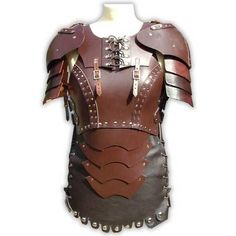 Cryanna Womens LARP Leather Body Armour ❤ liked on Polyvore featuring armor