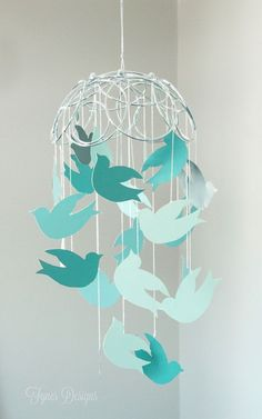 Paint Chip Hanging Mobile