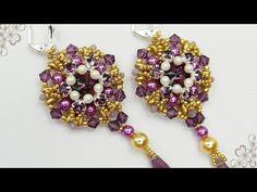 Beaded Earrings, Earrings Handmade, Beaded Bracelets, Beading Tutorials, Beadwork, Pendants, Brooch, Beads, Youtube