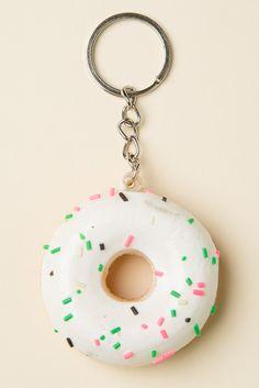 Brandy ♥ Melville | Sprinkle Donuts Keychain - Accessories