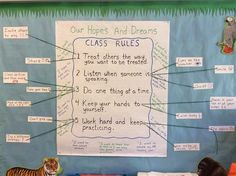Responsive Classroom Hopes & Dreams combined with rules.