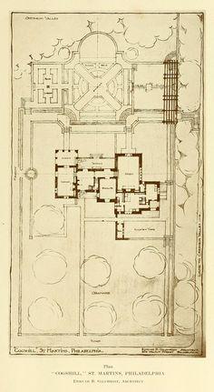 Plan for the Cogshill Residence, Philadelphia   ARCHI/MAPS : Photo