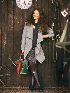burda style: Damen - Jacken - Lange Jacken - Strick-Jacke - ohne Verschluss