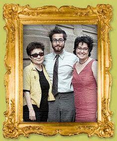 Yoko Ono with son, Sean Lennon, and daughter, Kyoko Cox (born 1963, w Yoko's 2nd husband, Anthony Cox)