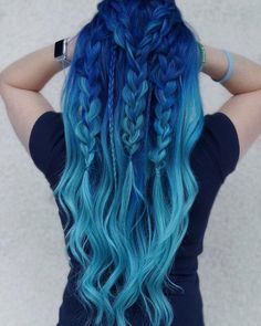 blue ombre hair color trend in trendy hairstyles and colors blue ombre hair; Hair 33 Blue Ombre Hair Color Trend In 2019 Pretty Hair Color, Cute Hair Colors, Hair Color Purple, Hair Dye Colors, Blue Ombre, Diy Ombre, Green Hair, Amazing Hair Color, Unique Hair Color
